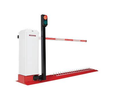 Barrier arm operator with safety light