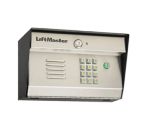 LiftMaster key pad and intercom