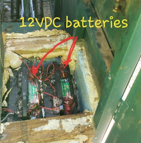 12 VDC batteries in a solar panel for an automated gate and gate operator