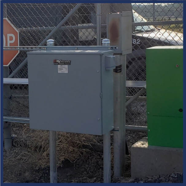 HySecurity battery backup for a slide gate operator