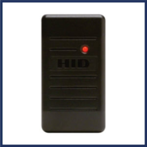 HID card reader for automated gate. Features a multicolor LED & beeper. Can read HID card with formats up to 85 bits. Ideal for indoor and outdoor installation