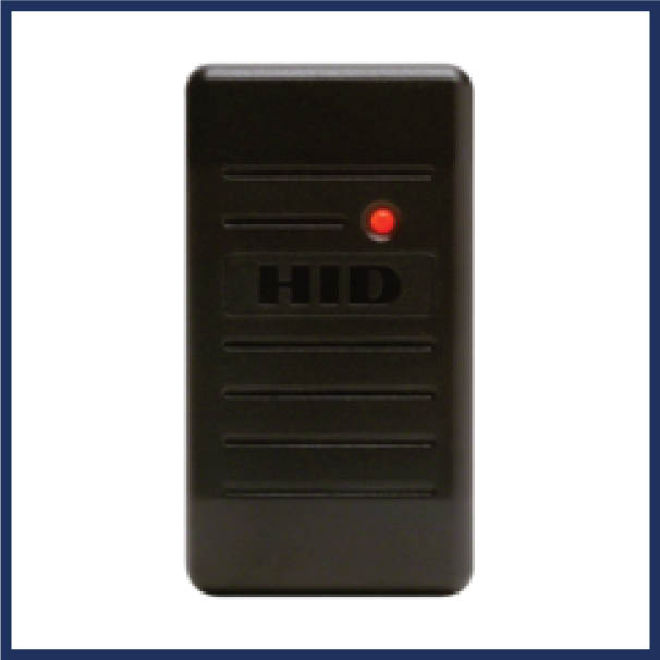 HID card reader for automated gate