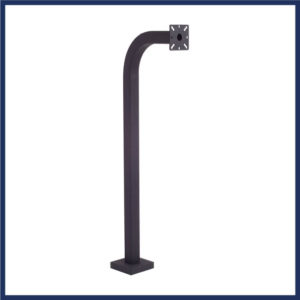 """42"""" gooseneck stand for gate entry control devices. 10.5"""" Throw. Mounted to ground. Black powder coat finish."""