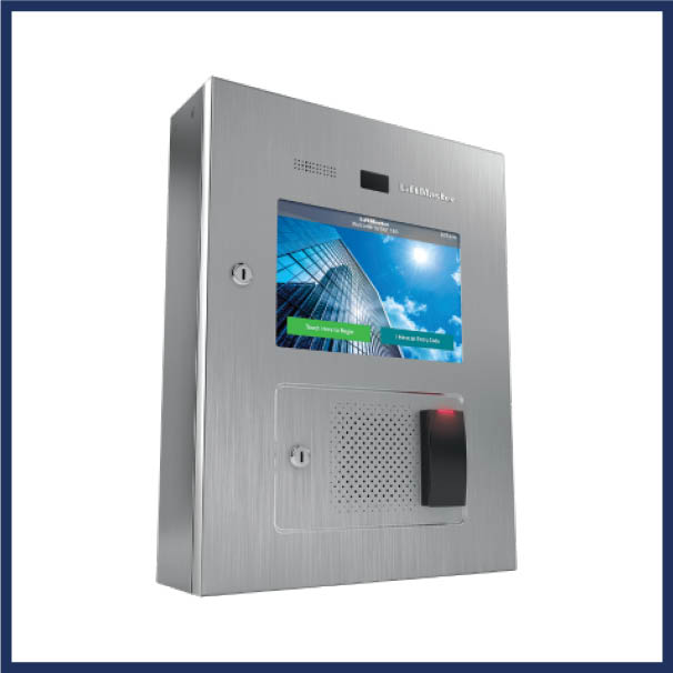 LiftMaster video intercom system for gate.  Cloud-based access control for residential use. Voice Over IP (VoIP). Wi-Fi compatible.