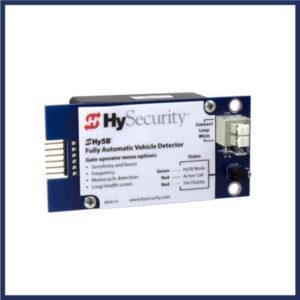 HySecurity gate loop detector. Detector sets optimum sensitivity. Real-time data. Loops 3 ways, ensuring reliable installation.